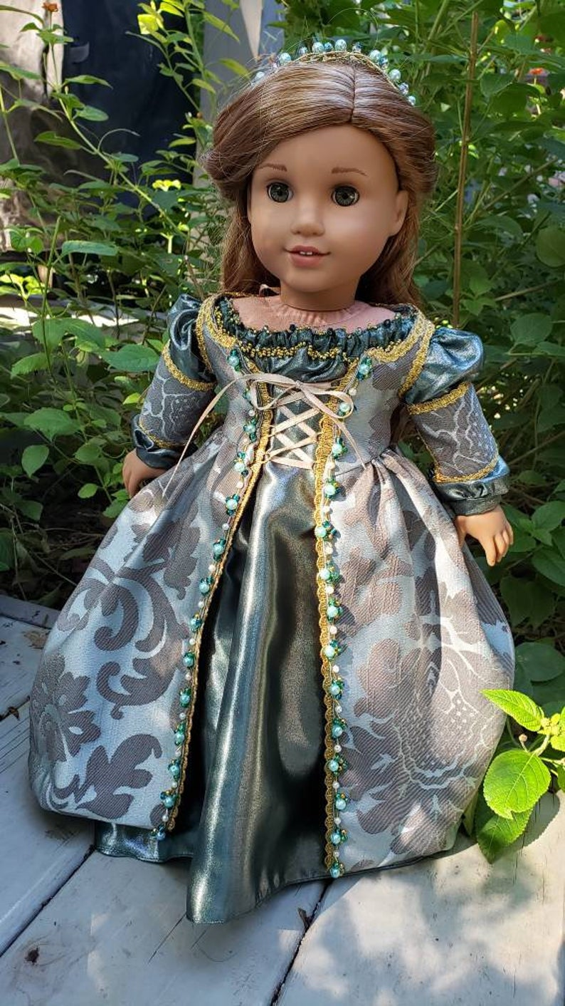 Historical 18 inch doll clothes Contessina of Florence will fit American Girl® Royal Renaissance beaded ensemble period clothing OOAK #historicaldollclothes Historical 18 inch doll clothes Contessina of | Etsy #18inchdollsandclothes