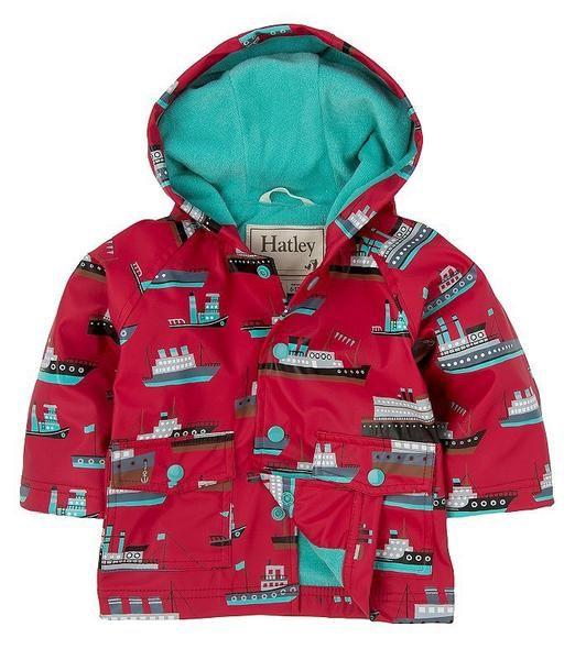 Hatley Ocean Liner Boys Kids Raincoat Parakeet Feet Raincoat Kids Hatley Raincoat Raincoat