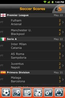 Livescore For Android Phones V 2 0 4 Mobile Software Soccer Scores Application Android League Table