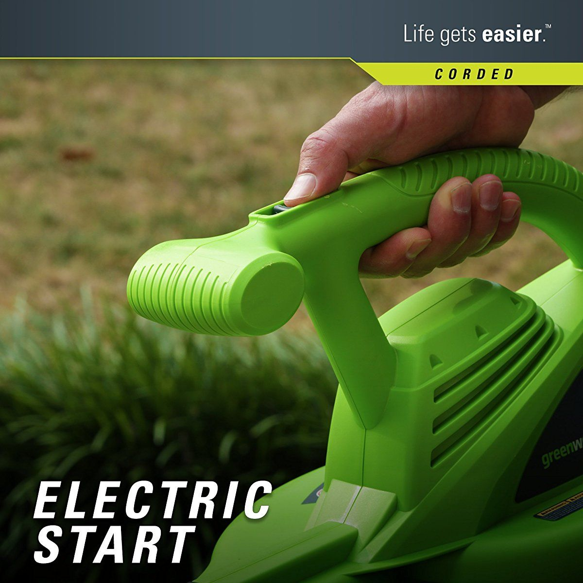 Greenworks 24012 7 amp single speed electric 160 mph
