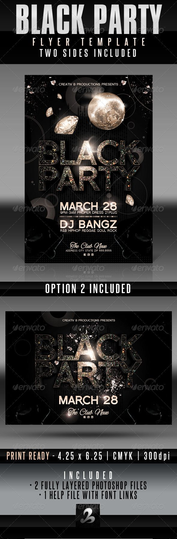 black party flyer templates graphicriver use this flyer and or