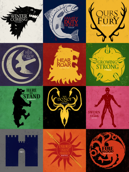 House Sigils Game Of Thrones Geekery Pinterest Gaming