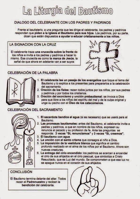 Resultado De Imagen Para Simbolos Del Bautismo Catolico Sacramento Del Bautismo Catequesis Bautismo Catolico