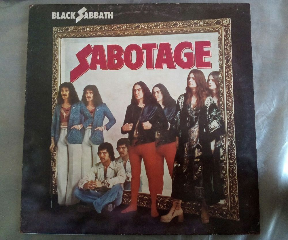 Black Sabbath Sabotage 1975 Stereo Metal Vynil Lp Nm Made In Italy Rare Blackgothicmetalbritishmetalnwobhm