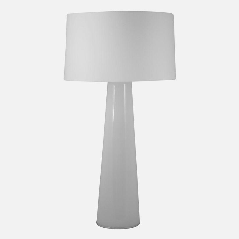 White Obelisk Table Lamp With Night Light
