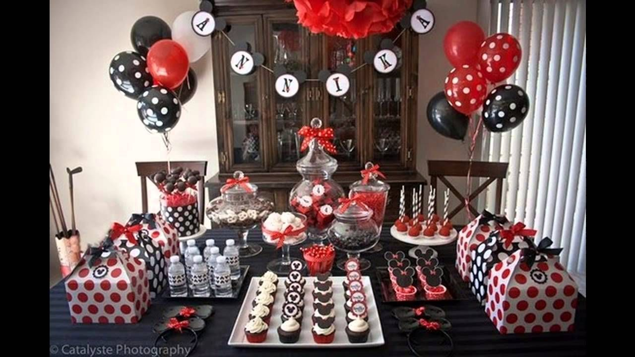 Cool Mickey mouse birthday party decorations ideas - YouTube ...
