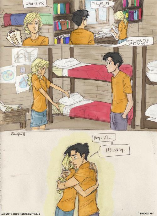 honestly one of the cutestpercabethscenes coloring: annabeth-chase-sabidinha | art: burdge
