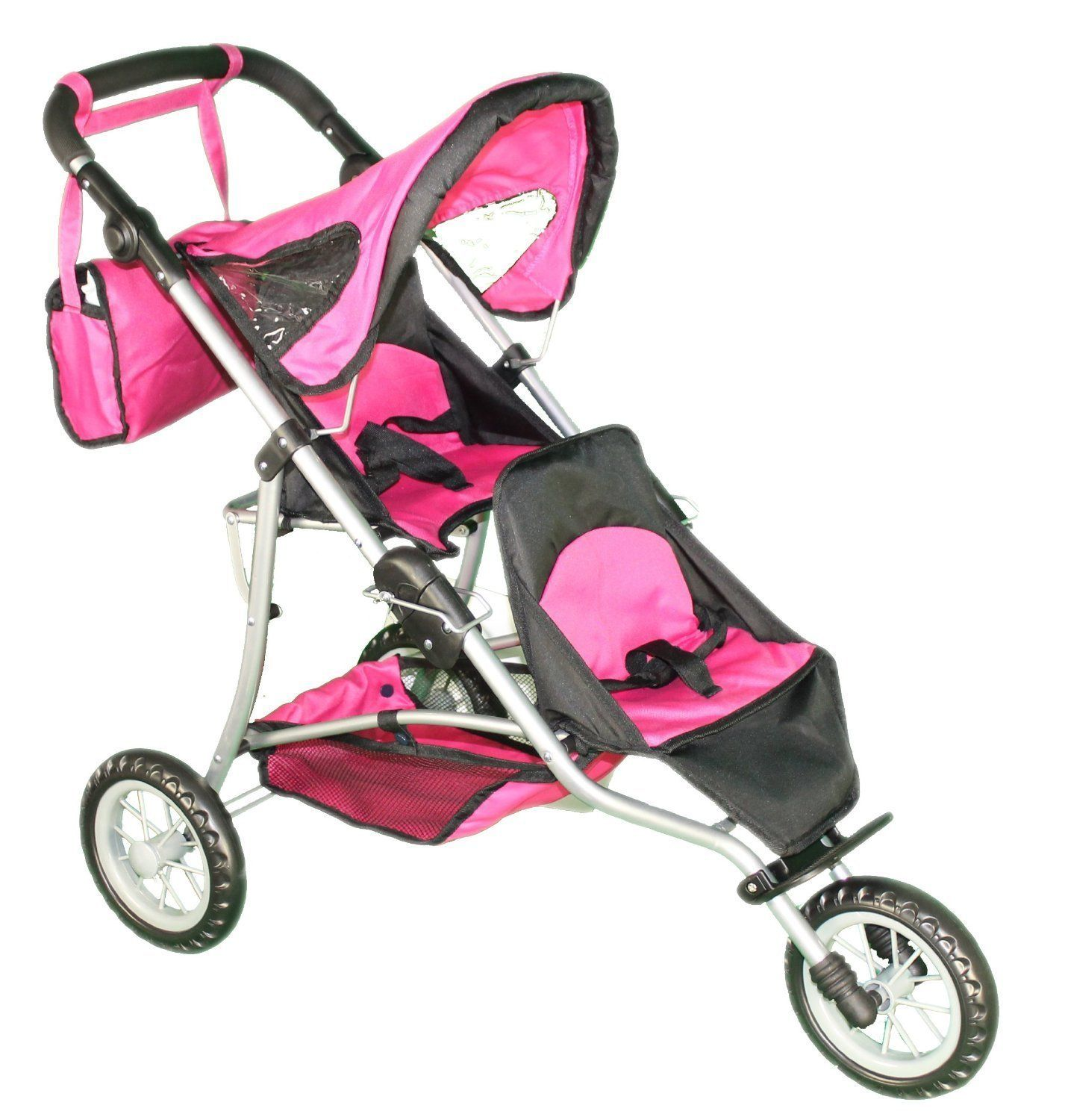 Mommy & Me Doll Twin Stroller and Carriage Bag