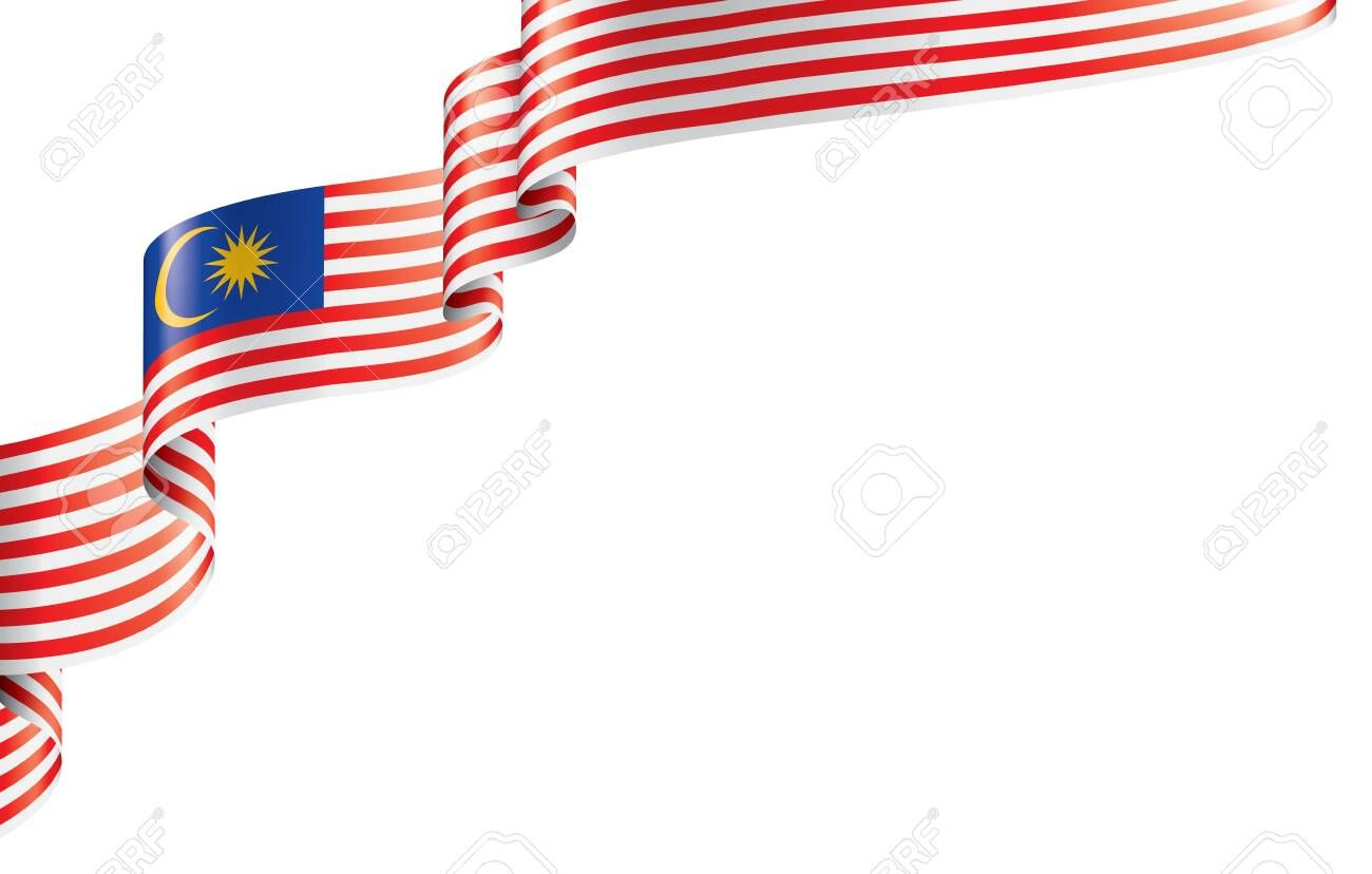Malaysia Flag Vector Illustration On A White Background Ad
