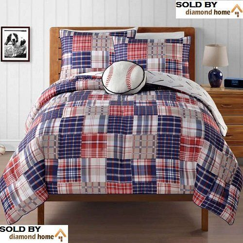 4 Pc Boys Baseball Comforter St Bed In A Bag Full Size Bedding By BeddingComforter SetsSports