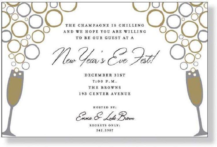 new years eve cocktail party invitation wording