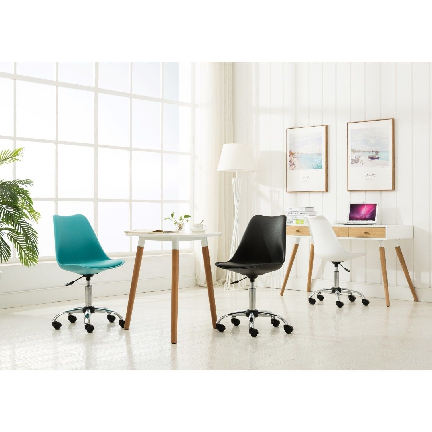 Porthos Home Teresa Adjustable Office Chair (White) | Pinterest ...
