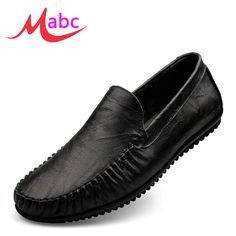 Find More Men's Casual Shoes Information about High Quality Black Men Loafers Moccasins Casual Men Shoes Man Fashion Genuine Leather Slip On Men's Flats Driving Shoes MS228,High Quality shoes curves,China shoe clip on decorations Suppliers, Cheap shoe sketches from MaBc on Aliexpress.com