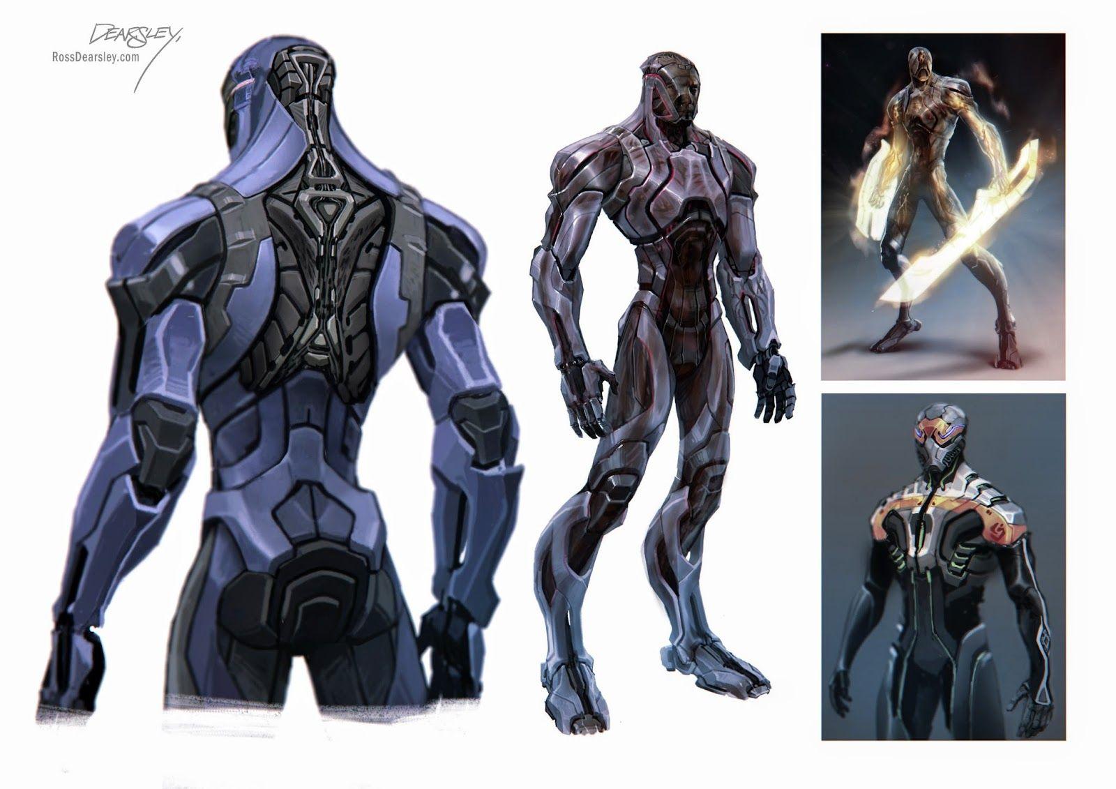 Ross Dearsley Concept Art Characters Armor Concept Superhero Design