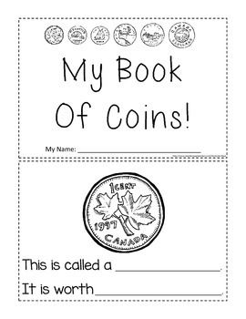 canadian coins activity booklet 1st grade teaching