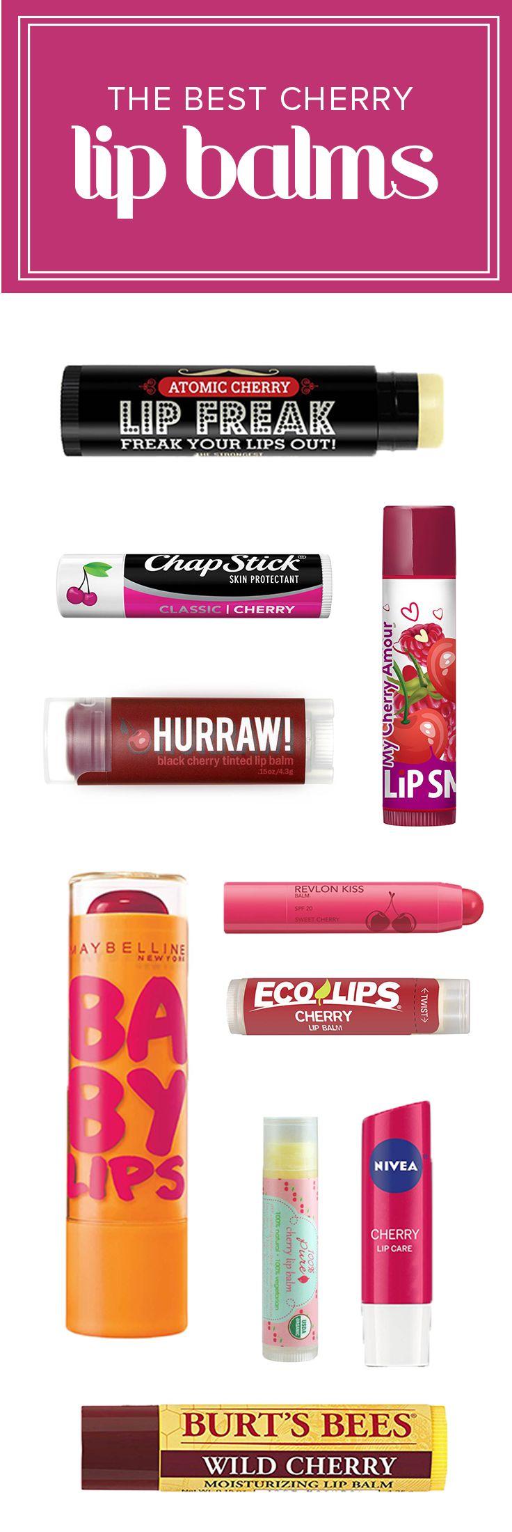 The 11 Most Smooch Worthy Cherry Lip Balms Ever Drugstore Lip
