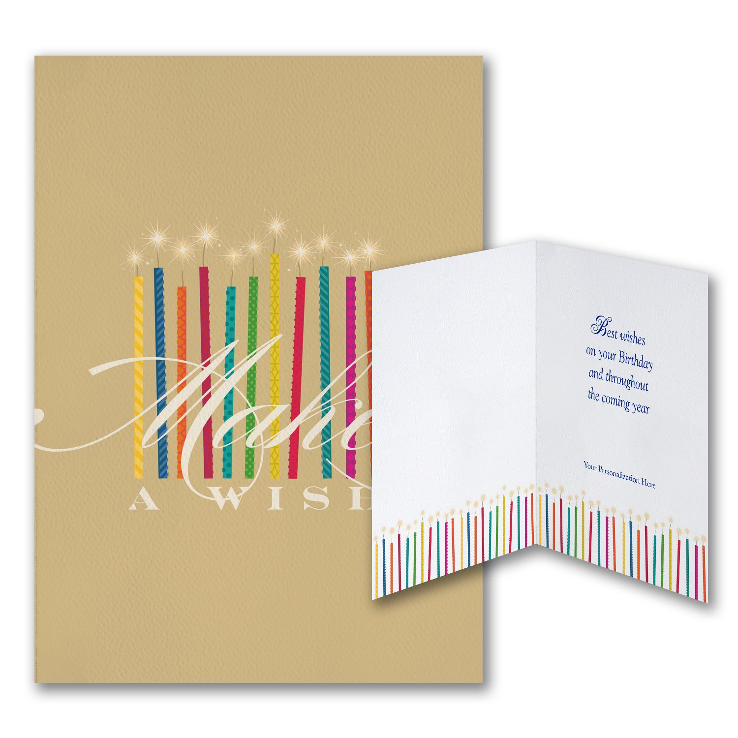 Make Your Wish Business Birthday Cards Custom Greeting Partyblock