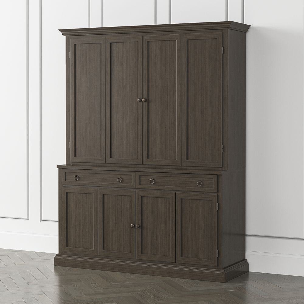 Cameo pinot lancaster 2 piece entertainment center with wood doors
