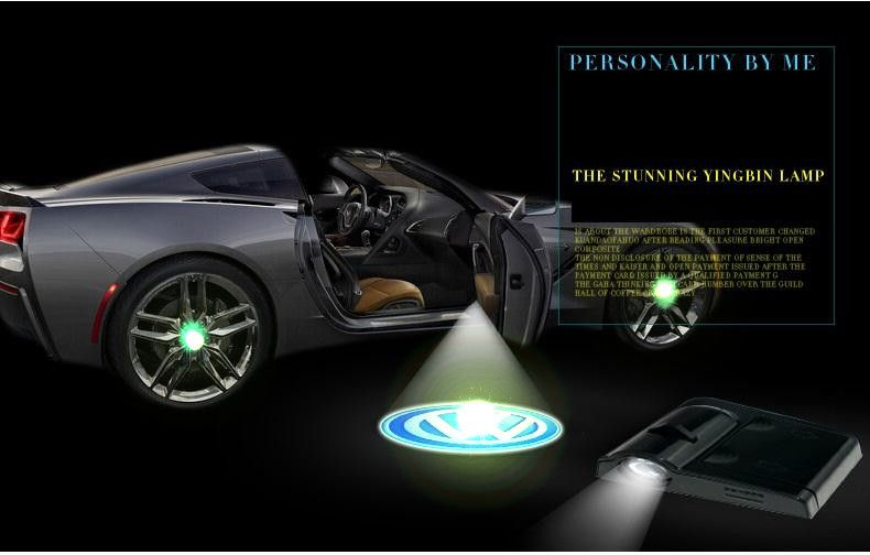 Car Styling Wireless Laser Light Vehicle Door Light Projection Lamp Is Free Of The Punch Free Wiring Car Led Welcome Light Jewelry Wome Veiculos Soco Carros