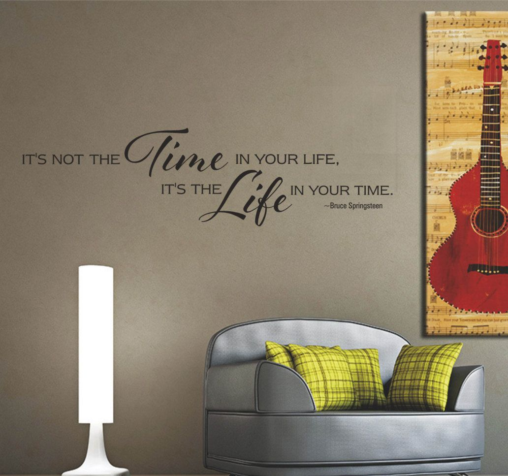 Bruce Springsteen Inspirational Wall Quote, Vinyl Letters