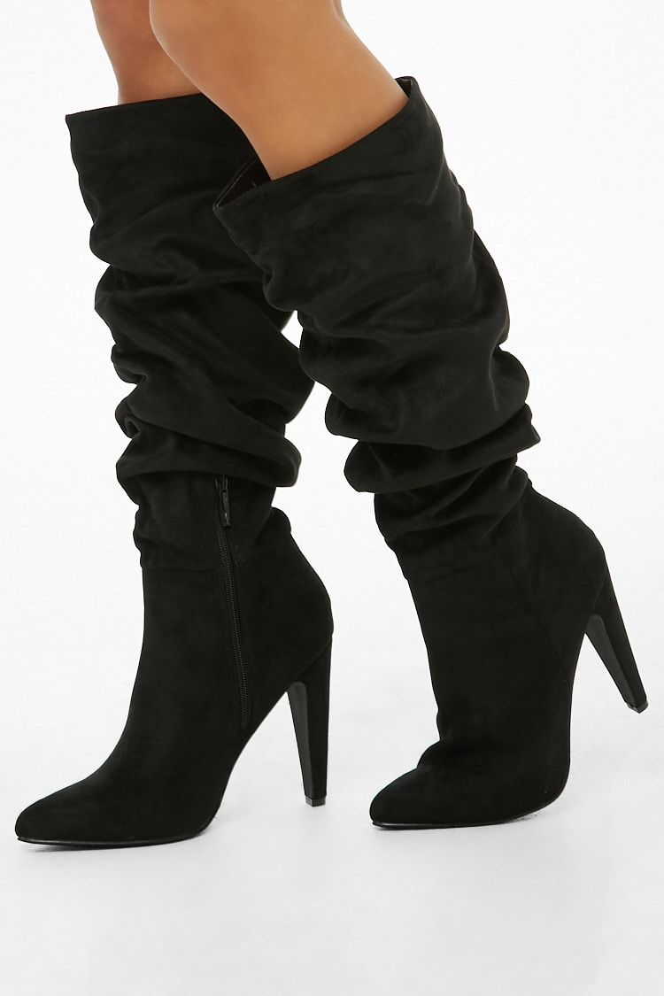 4dd19686b9ed Slouchy Faux Suede Boots