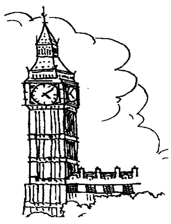 Drawing London Clock Tower Coloring Pages Netart London Clock