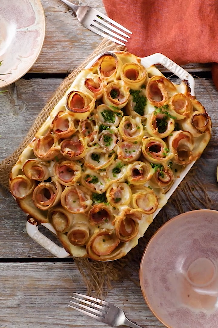 No holiday party is complete without this hearty potato roll casserole — and refreshing Coca-Cola, of course! #Sponsored by Coca-Cola