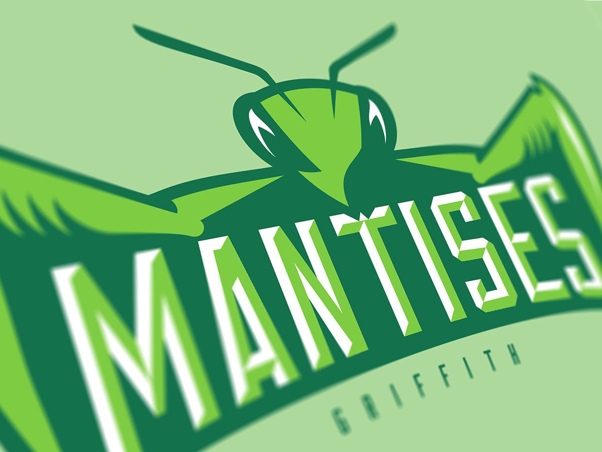 Mantises Of Griffith On Behance Women Volleyball Logo Design Volleyball Team