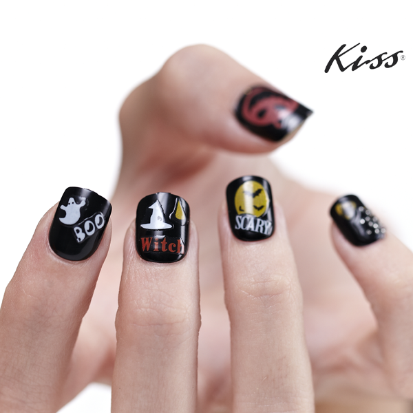 Use Kiss Halloween Nail Artist Stickers to decorate your already ...