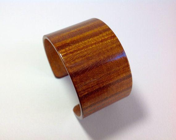 Wood bracelet Curly Maple wood bracelet Brown by RKLWoodDesigns