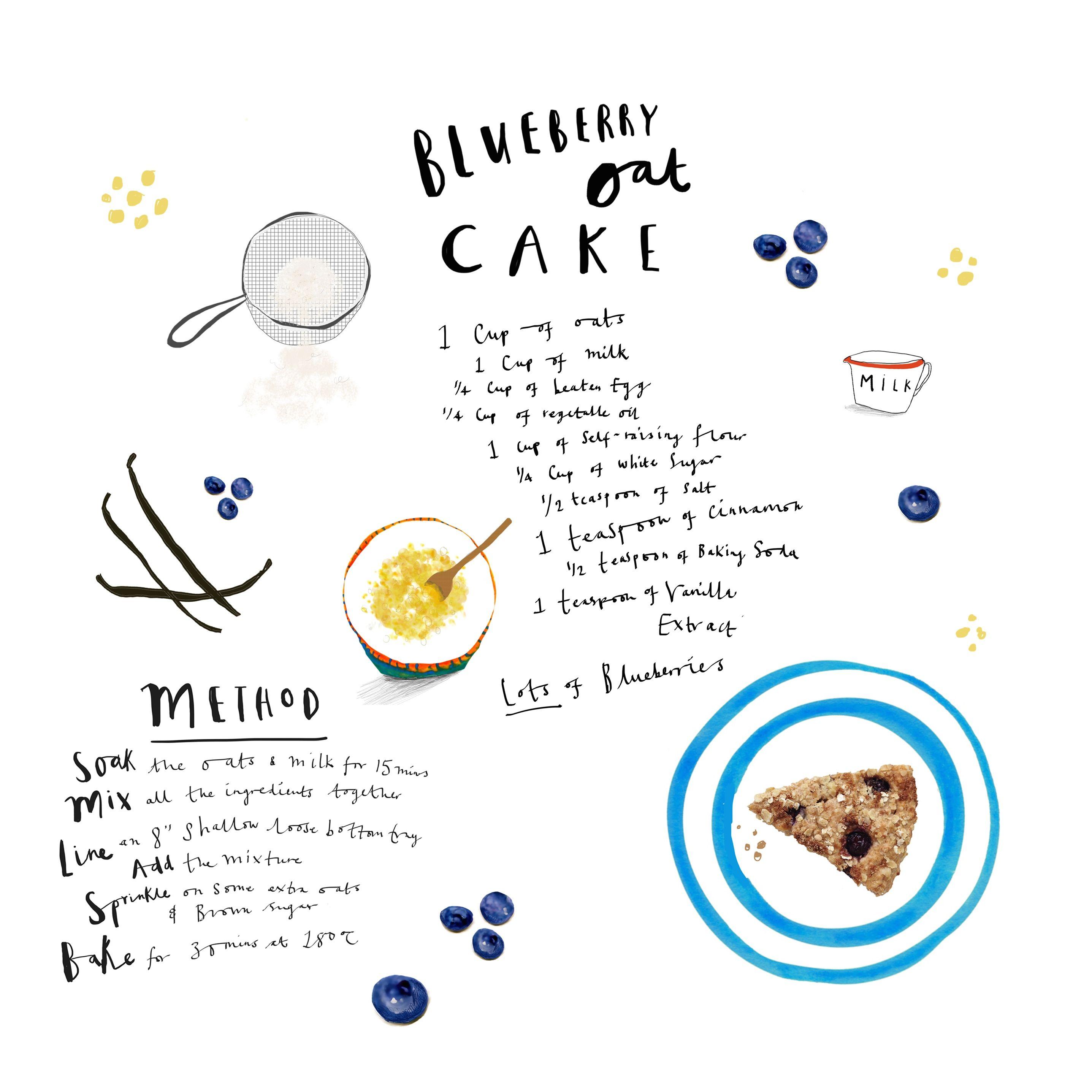 Cake Recipe By Katy Pillinger Designs Recipe Book Design Recipe Graphic Food Illustrations
