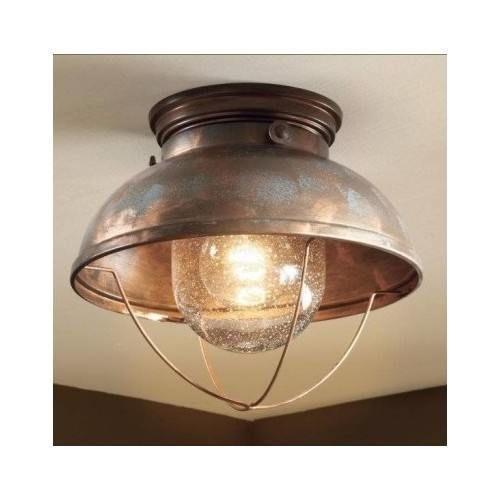 Ceiling Light Fixture Bathroom Kitchen Rustic Lighting Cabin Decor Lodge Copper Rusticcabinlodgelightingdecor Rusticprimitive