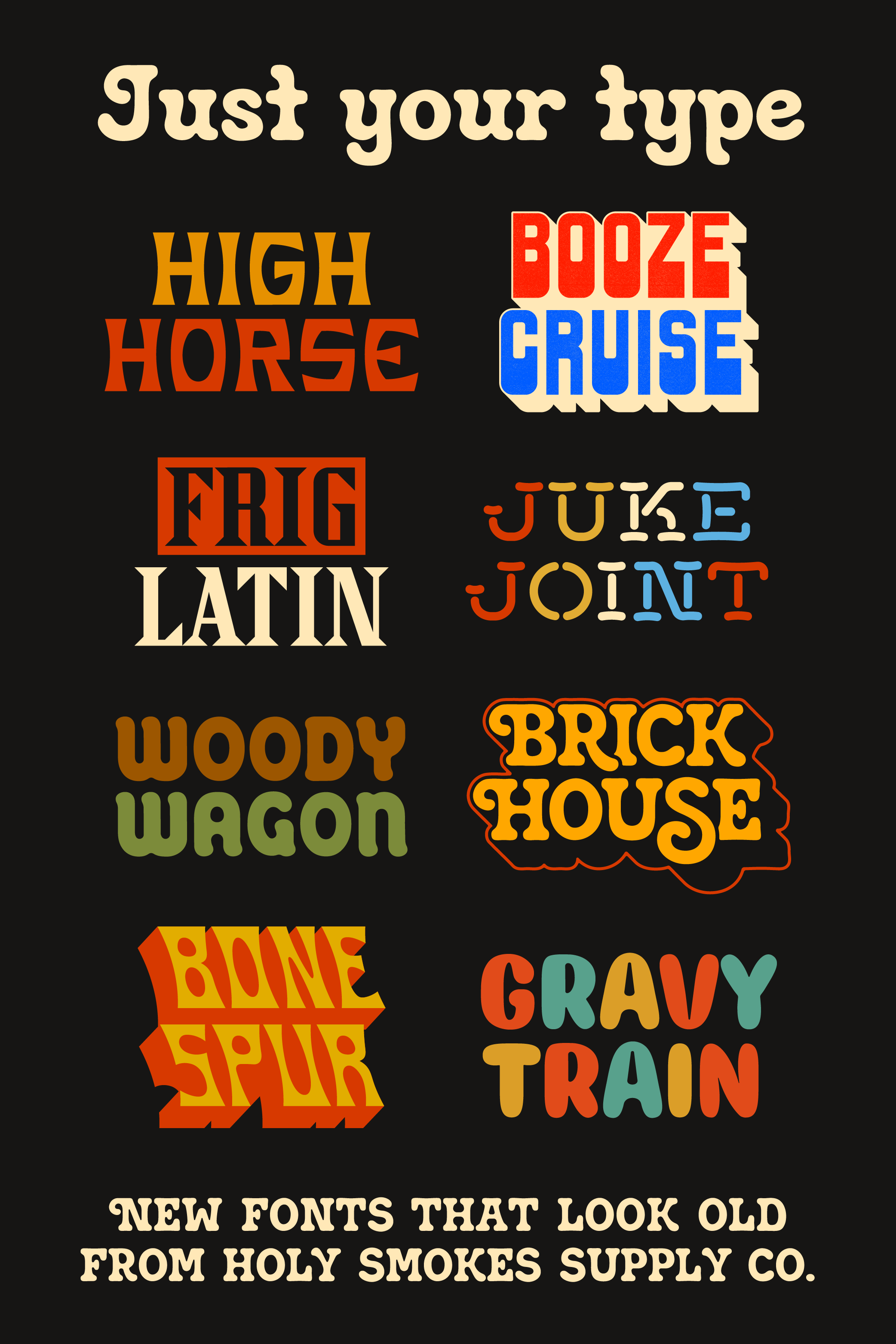 Unique retro fonts to take your design to the next level