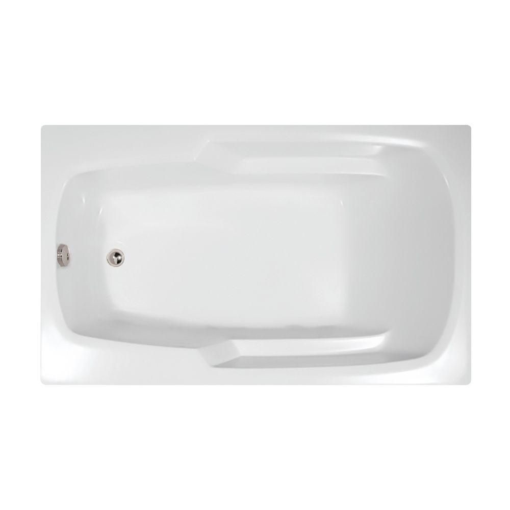 Hydro Systems Studio 5 ft. Reversible Drain Air Bath Tub in White