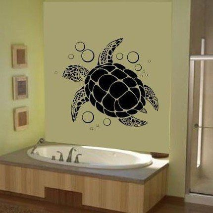 sea turtle wall art vinyl decal sticker graphic ocean hawaiian by lks trading post u2013 friendly faces