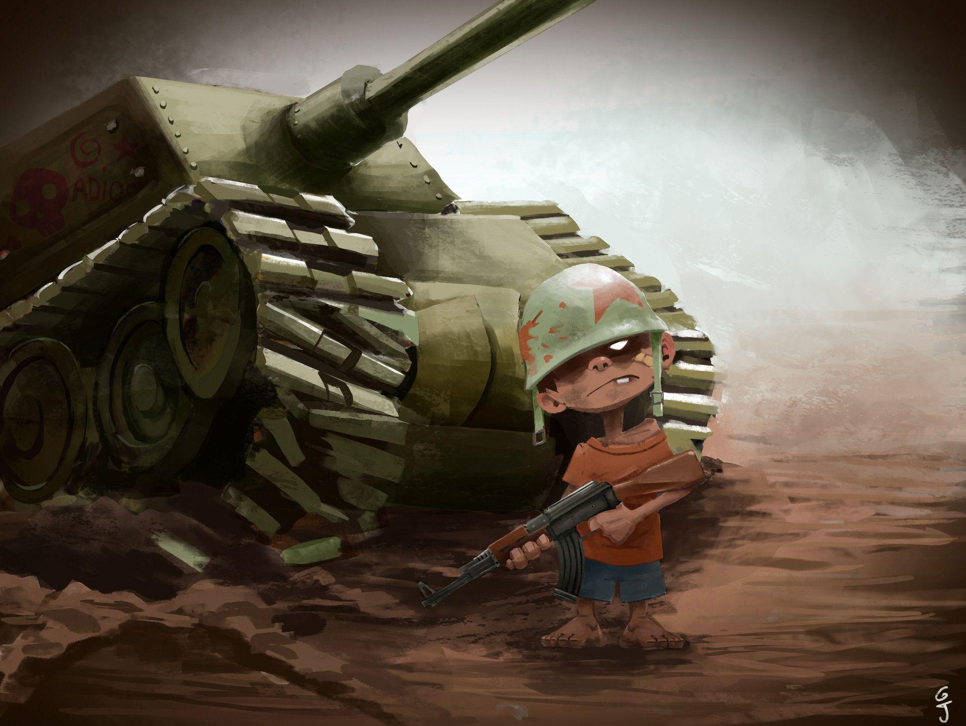 ArtStation - Soldier Child, Jeremy Guerrieri