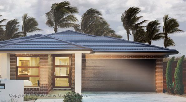 Steel Line Wind Rated Garage Door Used In High Wind And Cyclonic