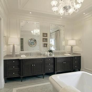 Tomas Pearce Interior Design · Dark Brown Double Vanity Captivating Design A Bathroom Vanity Inspiration Design