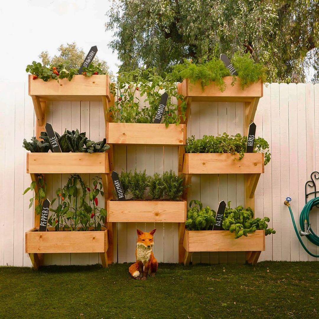 "Vertical Herb Garden Ideas: Lowe's Home Improvement On Instagram: ""Imagine Having"