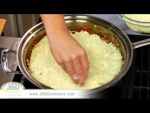 Skillet Lasagna Recipe| Healthy 360 Stainless Steel Cookware ...