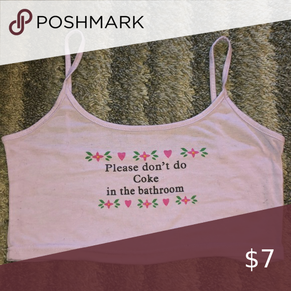 Don T Do Coke Crop Top With Images Crop Tops Tank Top Fashion Comfortable Shirt