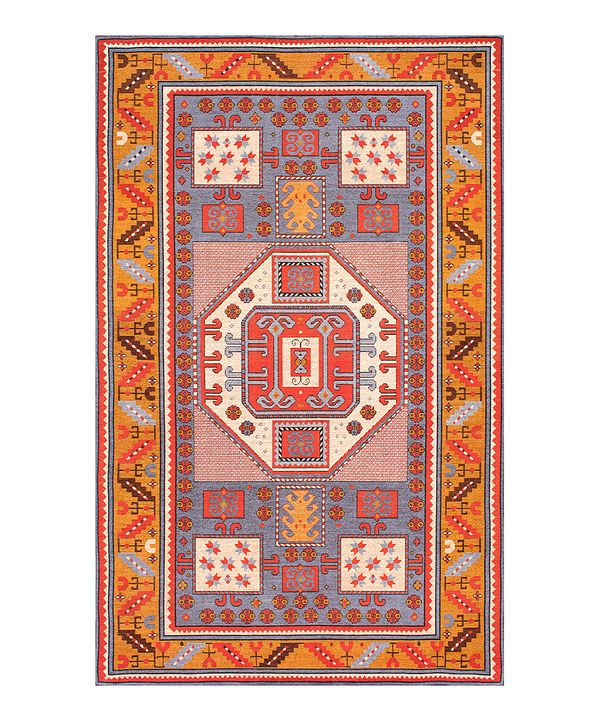Look at this Rust Geometric Marnie Rug on #zulily today!