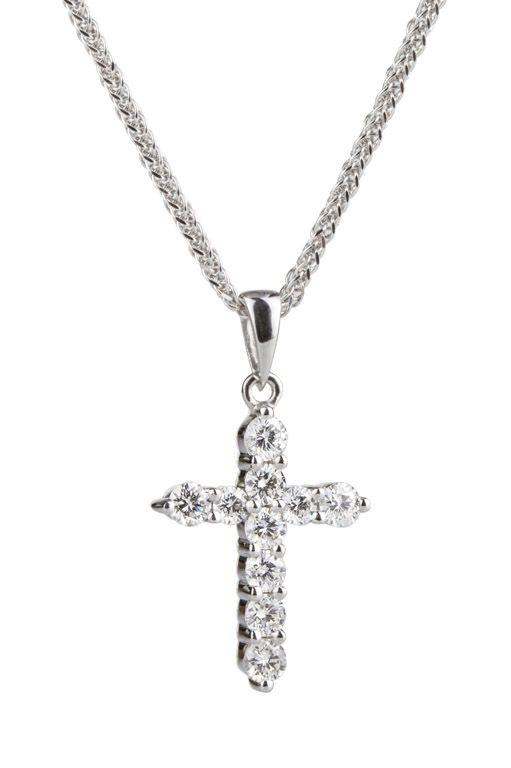956b7fb2ed79 Dije en oro blanco de 18 kilates con diamantes 18K white gold pendant with  diamonds