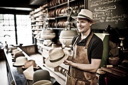 Master hat maker Graham Thompson owner of Optimo Hats in Chicago ... 3cee17888749