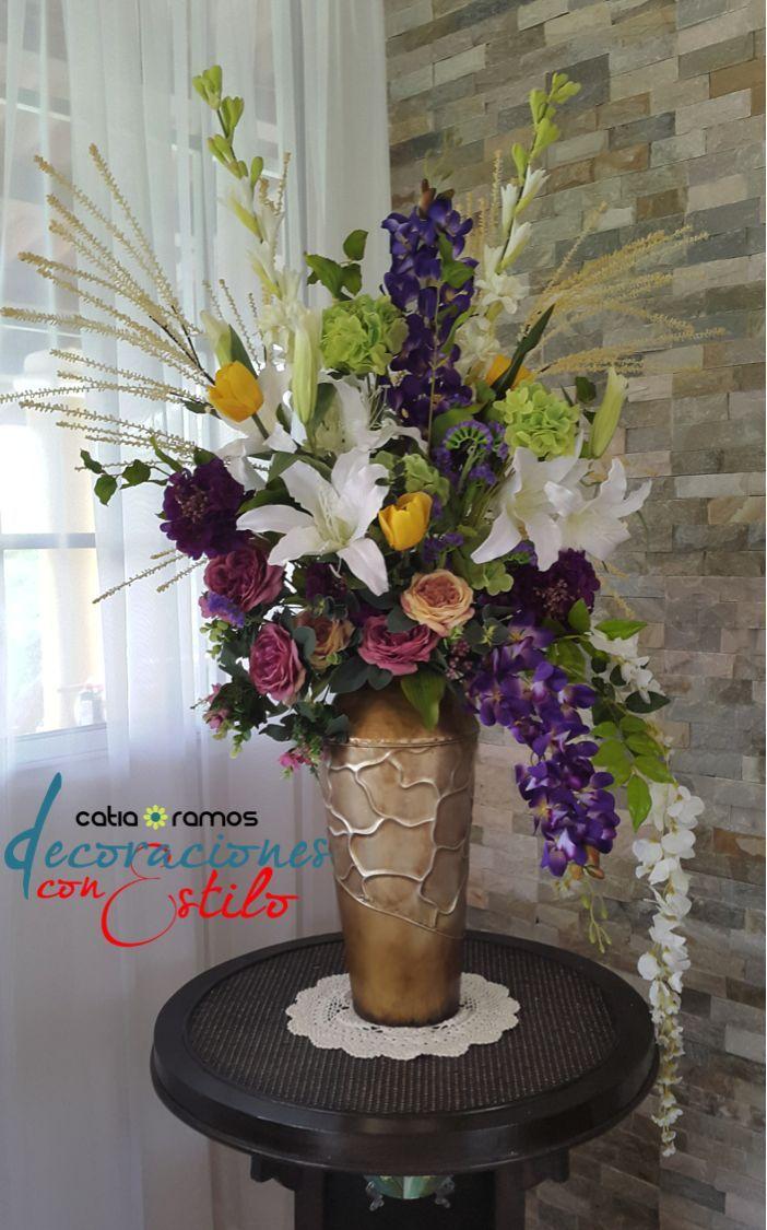Pin de daira yadira mu oz en arreglos florales arreglos - Arreglos florales con flores artificiales ...