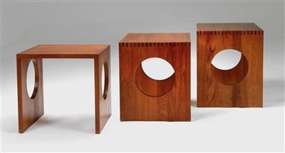 Three nesting tables, designed by Jens Quistgaard, realized price USD 3,050