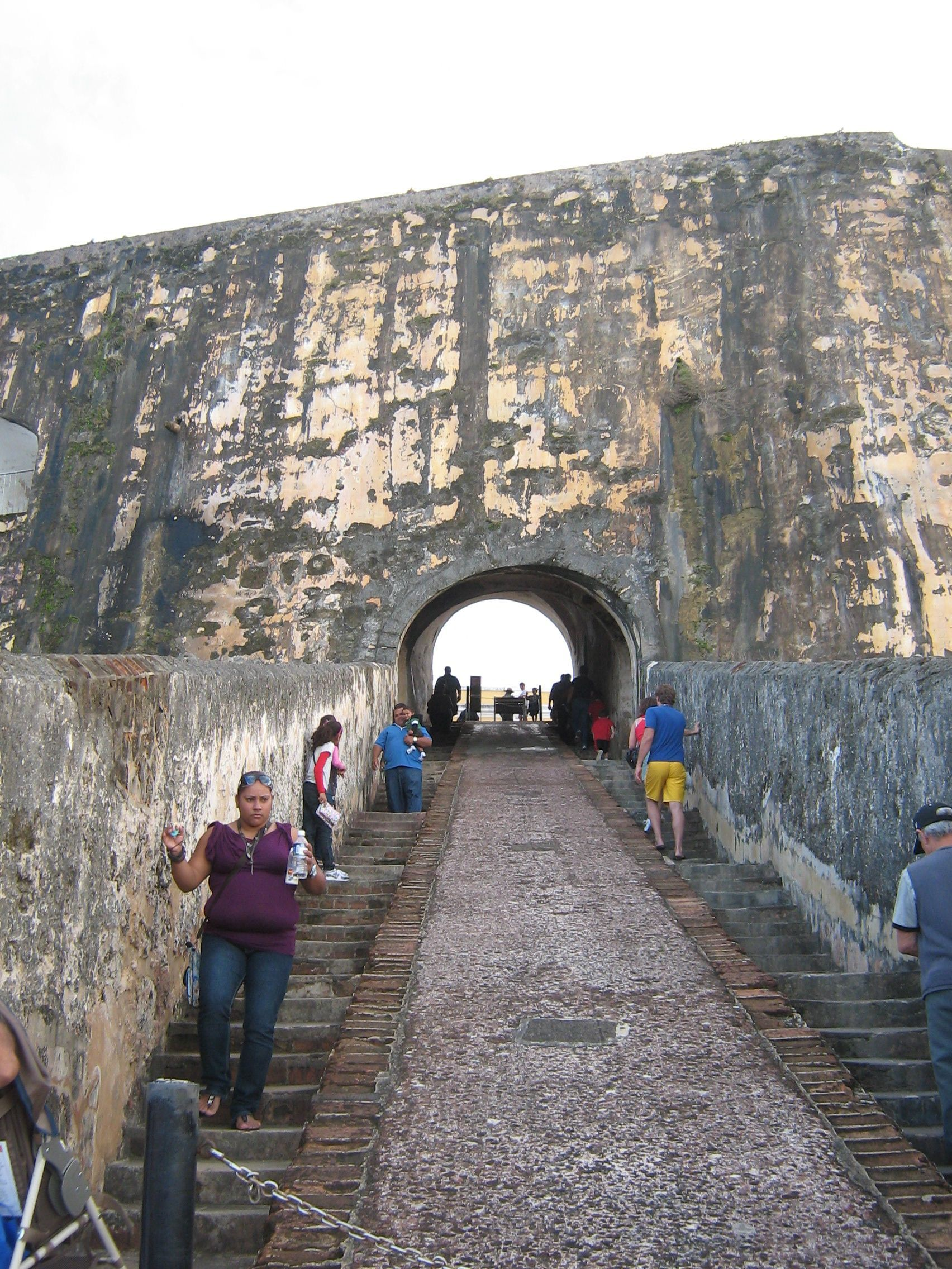 Ramp To Lower Level Full El Morro San Juan Puerto Rico