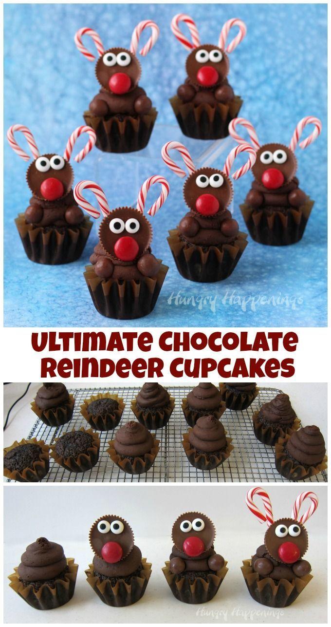 Ultimate Chocolate Reindeer Cupcakes - #Chocolate #Cupcakes #holiday #reindeer #Ultimate #chocolatecupcakes