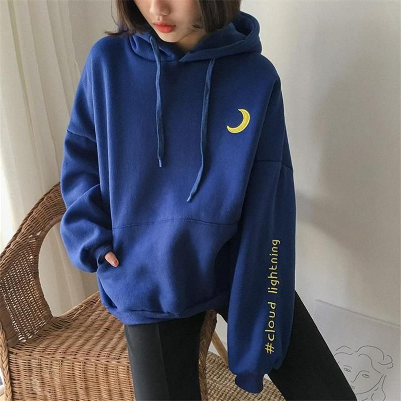 hoodies aesthetic #hoodies #sweatshirt #oufit quot;CLOUD LIGHENINGquot; EMBROIDERED WEATHER HOODIE W010215