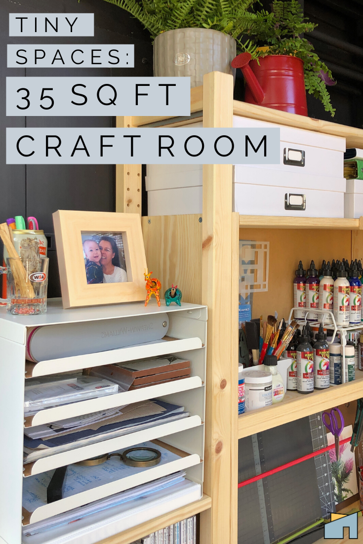 How To Turn A Small Space Into A Dream Craft Room Workspace On A